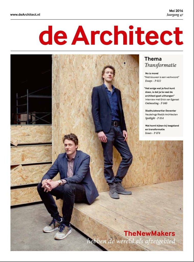 Nederland dearchitect mei 2016 cover