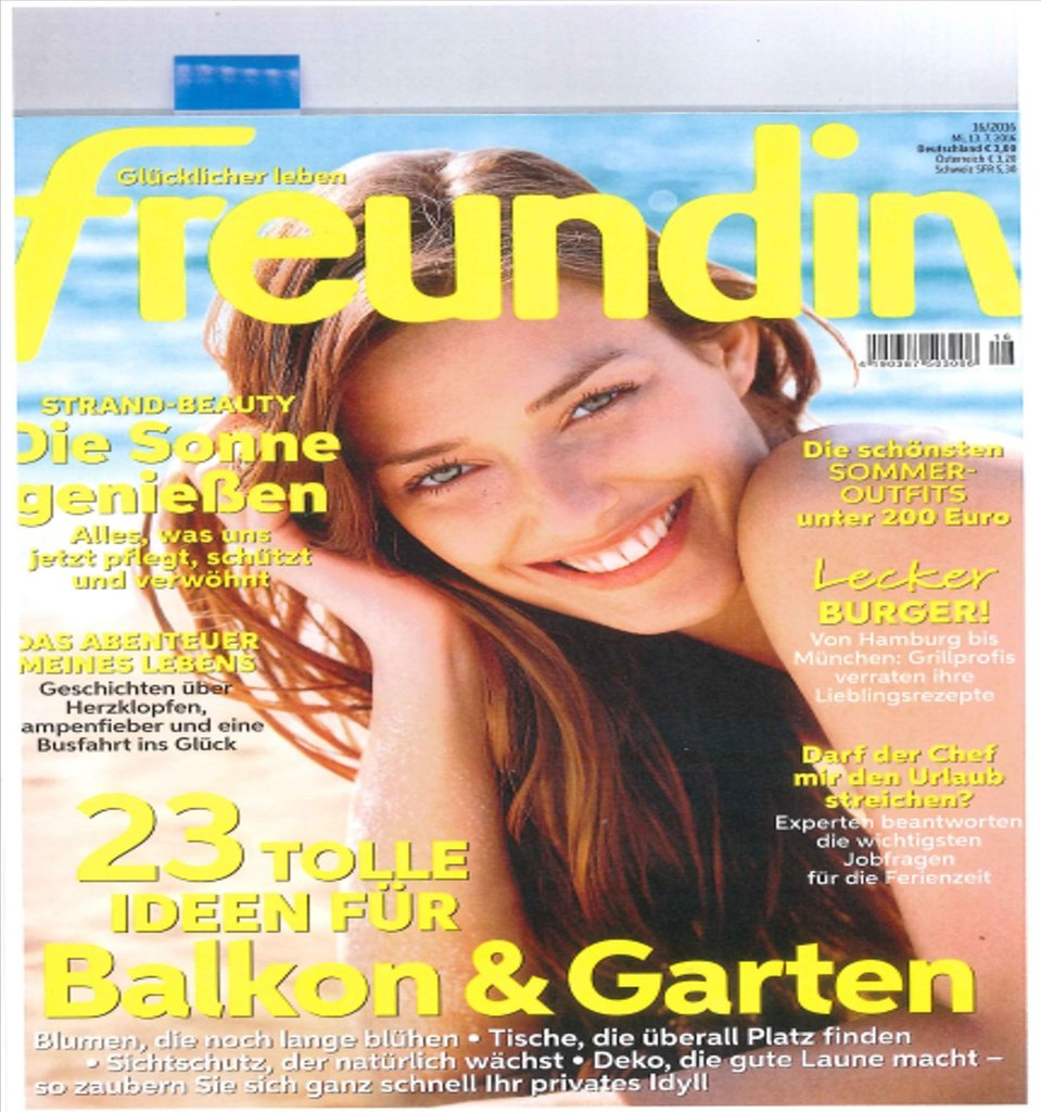 De freundin july 2016 cover
