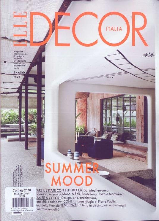 Italie elledecor august cover