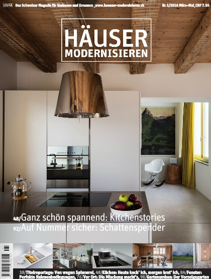 Zwitserland hausermodernisieren april 2016 cover